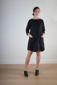 Black linen shift dress 2.jpg