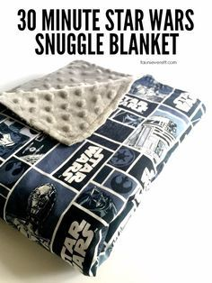It only takes 30 minutes to make these awesome Star Wars snuggle blankets. They're perfect for kids and make a great accessory for Star Wars viewing parties. They look super simple. Possible Christmas gift?