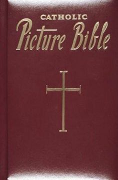 New Catholic Picture Bible 1997 Wine Burgundy Leather Gilt Page Ends Gift Boxed $16