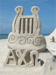 AXO, Alpha Chi Omega Sandcastle I made for my daughter Amy!