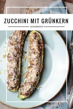 Zucchini mit Grünkern-Pilz-Füllung | Vegetarisch