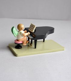 Vintage Tiny Angel on Piano  Wendt & Kuhn  Handmade by MisterTrue