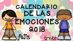 Calendario 2018 EDITABLE trabajamos las emociones -Orientacion Andujar