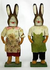Pair of Antique German Easter Rabbit Candy Containers c. 1910