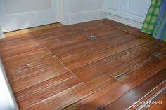 DesignDreams by Anne: Simple Fix - White Painted Wood Floor