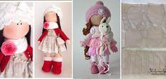 Πώς να φτιάξουμε μια φανταστική υφασμάτινη κούκλα στολίδι! Οδηγίες Βήμα Βήμα + Πατρόν. - Toftiaxa.gr - Φτιάξτο μόνος σου - Κατασκευές DIY - Do it yourself Fabric Dolls, Doll Patterns, Projects To Try, Crochet Hats, Quilts, Sewing, Russia, Baby Dolls, Decorated Boxes