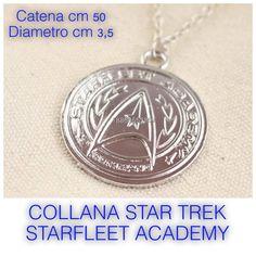 COLLANA STAR TREK STARFLEET ACADEMY LEGA DI METALLO € 3,50