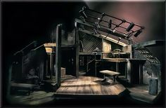 Scenic Design for The Diary of Anne Frank