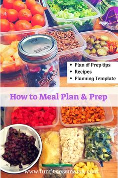 How to Meal Plan and Prep| Learn step by step how to plan and prep your meals. You'll be a pro in no time! Planning and prepping your meals will save you time in the kitchen throughout the week. Includes recipes and printable meal Planning template. #recipes #veganrecipes #healthyrecipes #healthyliving