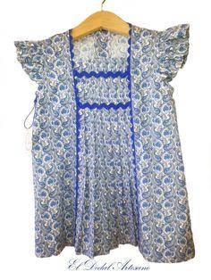 El Dedal Artesano: Vestido infantil en pique