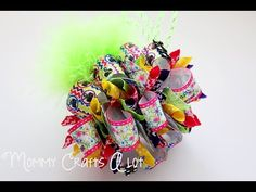 """Join me! I'm making a bow everyday for the month of June. What would you like to see next? Find me on facebook (for details on the ribbon) """"mommycraftsalot"""" ..."""