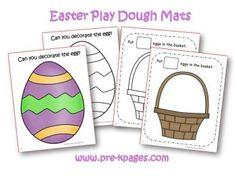 Easter play dough mats
