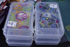 Store your traveling essentials in these handy clear boxes. So many uses and only $0.99 each at Tuesday Morning!