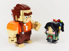 Wreck-It Ralph and Venellope Lego Brickheadz