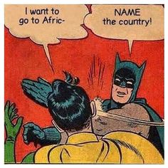 Funny fact by @beautifulsideofafrica We hope this page helps you to better know Rwanda ! #africaisnotacountry #africa #travel #batman #robin #country #rwanda #cartoon #fact #picoftheday #kigali #world #stereotypes #knowledge #truefact by rwandalicious_