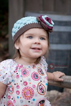 Crocheted Beanie  Hat The Violet Robins Egg