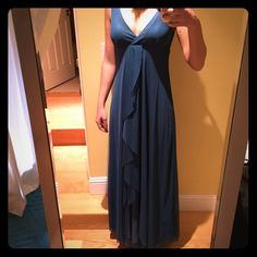 Long dress Blue, just used one time Europe Skirts Maxi