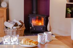 Tea, cake and a real fire. 3 of my favourite things http://luxuryspringcottageyorkshire.co.uk/
