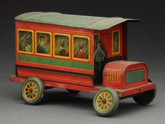 Spanish Tin Litho Rear Entry Bus Biscuit Tin