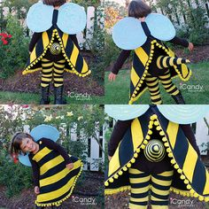 Isn't this adorable! Make a cute little bee with this DIY bumble bee costume tutorial.