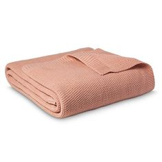 Threshold™ Sweater Knit Blanket - Coral View