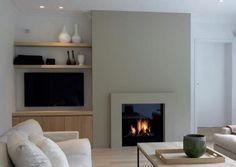cheminée sobre et design, facile à réaliser