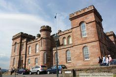Inverness Castle, Inverness, Scotland.  Once a castle, now a court house and jail.