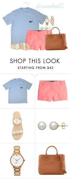 """""""Preppy style"""" by ccaroline02 ❤ liked on Polyvore featuring Vineyard Vines, J.Crew, Jack Rogers, Honora, Kate Spade, Tory Burch and Kendra Scott"""