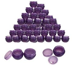 Beauticom® 36 Pieces 10G/10ML High Quality Purple Frosted Container Jars with Inner Liner for Makeup, Creams, Cosmetic Beauty Product Samples - BPA Free -- You can find more details by visiting the image link.
