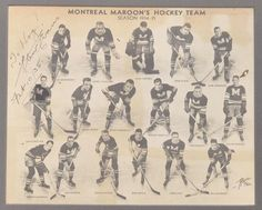Montreal Maroons - Stanley Cup Champions - 1935