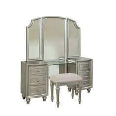 Avalon Furniture Regency Park Vanity with Mirror
