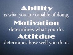Attitude Quotes | Ability Motivation Attitude Wall Decal Motivational Wall Quote Vinyl ...