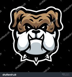 Vector Mascot Cartoon Illustration Bulldog Head Stock Vector (Royalty Free) 1725569971 Royalty Free Stock Photos, Darth Vader, Cartoon, Sport, Logo, Illustration, Pictures, Fictional Characters, Image