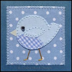 Claire Hurd Design: New Baby Cards - I like the zig zag stitching around the edge Fabric Cards, Fabric Postcards, Free Motion Embroidery, Machine Embroidery, Baby Design, Textiles, Sewing Cards, New Baby Cards, Small Quilts
