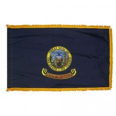 Indoor and Parade Colonial Nyl-Glo Idaho Flag with Fringe-Assorted Sizes http://www.pacificcoastflag.com/indoor-and-parade-colonial-nyl-glo-idaho-flag-with-fringe-1.html
