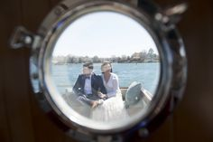Caitlin & Micheal's intimate Maryland wedding on a boat | Images: Daysy Photography