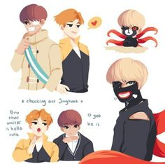 Read More fanart from the story Just BTS things by (★Moon Mother★) with 954 reads. Taehyung Fanart, Bts Taehyung, Bts Jimin, Vmin, Jikook, Chibi Tokyo Ghoul, Fanfiction, Cute Stories, Korean Art