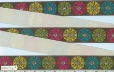 1 1/2 ROCCO BEAT MEDALLION Teal Blue Brown Pink by StitchinAway, $5.25