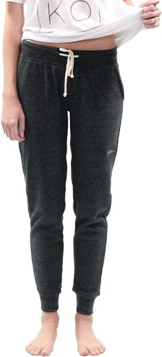 We're going to brag a little about these sweats, they are the best, most comfortable jogger sweats you will ever own. Pocket on the back. They are fitted and perfect for relaxing, traveling, or even t