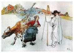 On the Farm - Carl Larsson