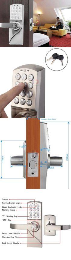 Other Door Hardware 20593: Digital Electronic Code Keyless Keypad Security Entry  Door Lock Left Handle