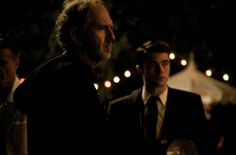 BTS of Director Anton Corbijn and Rob in 'Life'  taken during filming in Los Angeles at the Chateau Marmont. (1)