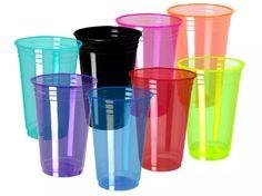 600 copos coloridos descartável 330 ml neon festa formatura