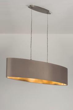 Hanglamp 10182: Modern, Staal , Rvs, Stof