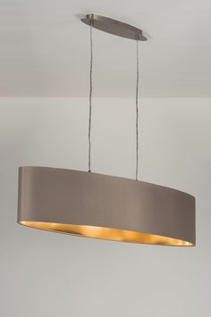 Hanglamp 10182: Modern, Staal , Rvs, Stof
