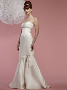 """Introducing """"Edie"""" from Birnbaum & Bullock's 2012 wedding dress collection. She is a cutie!"""