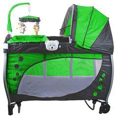 Berço Balanço com Trocador e Mobile Baby Style Verde DE R$ 699,00 - (desconto de 29%) POR R$ 491,99 em até 10x de R$ 49,19 sem juros
