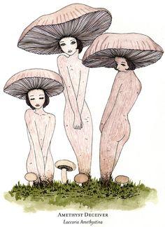 ☽ Glitter Tomb ☾ - Mushroom Pieces by Eveline Tarunadjaja, one of my...