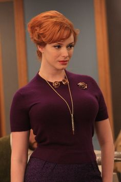 My inspiration for all things:  Joan Holloway.  Check the hair, the makeup, and the boobs.