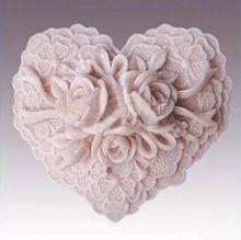 3D Handmade Soap Stampo In Silicone Torta Fandont Stampo A Forma di Cuore Fiore Stampi Rosa Candela Muffa Della Caramella Torta Strumenti M-073(China (Mainland))